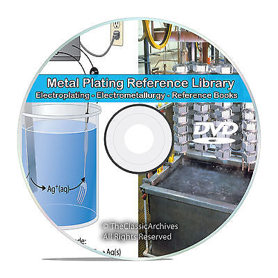 Electroplating Electrometallurgy Metal Plating Gold Silver Copper Books CD V73