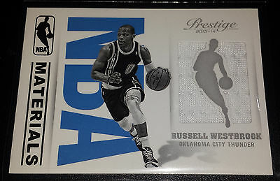Russell Westbrook 2013-14 Prestige NBA Materials Game Used Insert Card
