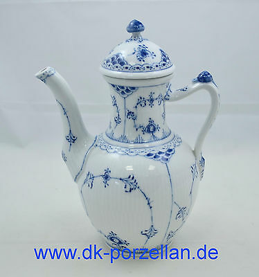 Royal Copenhagen Halbspitze Blue fluted half lace - Kaffeekanne - coffee-pot