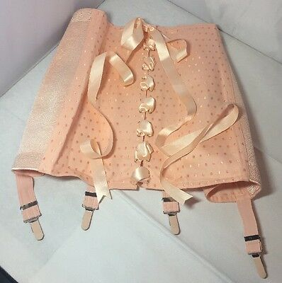 Vintage 50's 60's Style Pink French Corset Girdle Never Used Deadstock XL Plus
