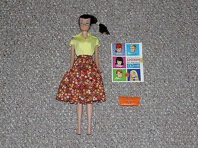1960s SL Brunette Swirl Ponytail Barbie with Complete Country Fair Outfit (1603)