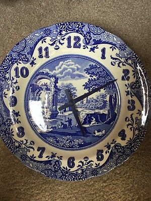 Spode Blue Italian Wall Clock