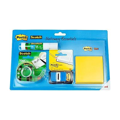 Post-It & Scotch Stationery Essentials Pack Glue Magic Tape Post-It Index Notes