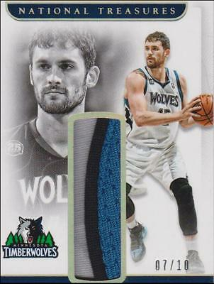 2016-17 Panini National Treasures Retro Material Gold PATCH Kevin Love  /10