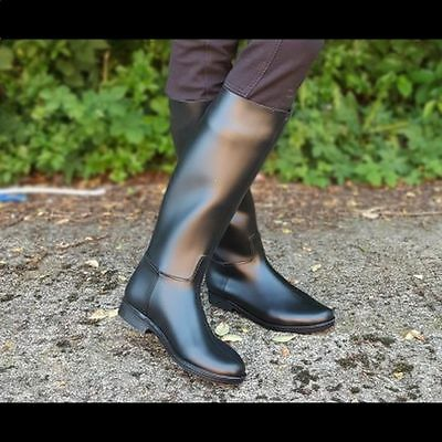 Gallop Long Rubber Riding Boots  - Adults/Childs - All sizes - Black Riding Boot