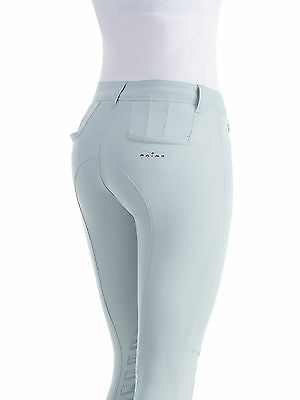 Animo breeches with animo Gripping System in sky, pink & white BN   FREE Post