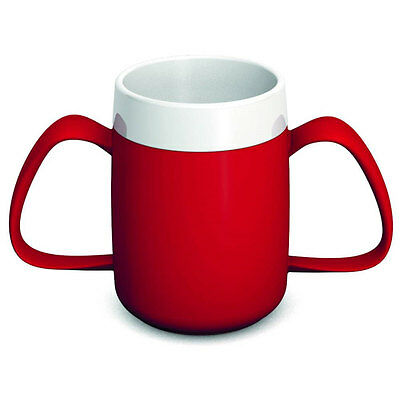 Ornamin Two Handled Mug + internal cone - 200ml - Red/White - PR65134/RD