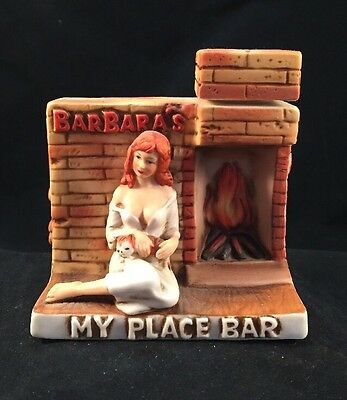 Barbara's My Place Bar ~ Captain Dug's Brothel Decanter ~ Winnemucca NV ~ 1980