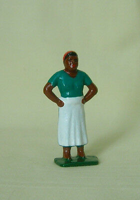 """Cook in Apron & Kerchief, 2.25"""" Grey Iron reproduction model train layout figure"""