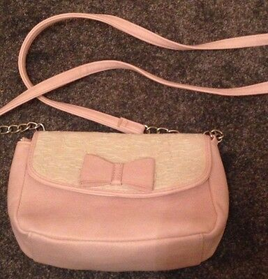 cute sweet adorable little small pink white girls bag purse with lace and bow
