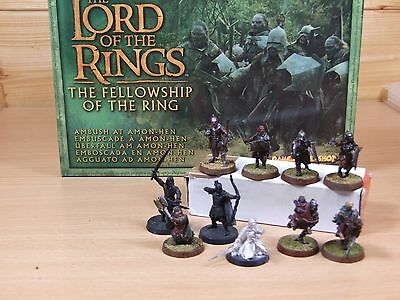 Classic Metal Lotr Warhammer Ambush At Amon Hen Complete Set Painted With Box