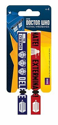 Doctor Who (Monsters) Pack Of 2 Fabric Festival Wristbands BY PYRAMID FWR680026