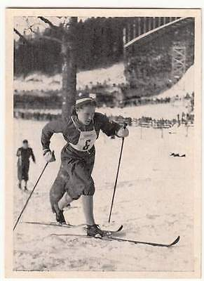 120 L. WIDEMAN Cross-country Ski Olympic Winter Games Oslo Norway 1952 IMAGE N&B