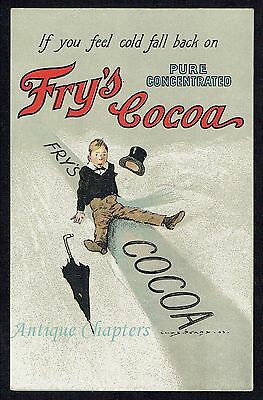 c1905 Fry's Cocoa Frys Charles Pears Advertising Postcard B215