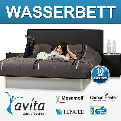 wasserbett komplett matratze heizung rahmen podest weiss 180x200 leder eur. Black Bedroom Furniture Sets. Home Design Ideas