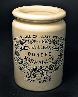 Antique James Kieller & Son's DUNDEE Marmalade Jar London 1862 Great Britain