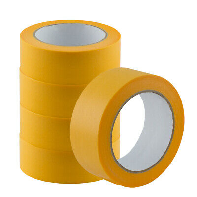 5x Adhesive Gold-Tape Masking Painting Tape 50m x 38mm (0,07£/1m)