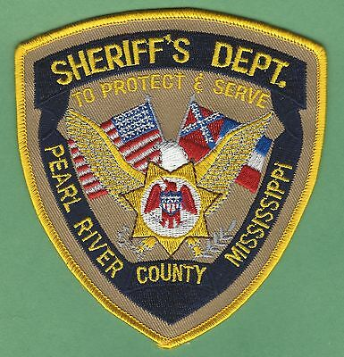 Pearl River County Sheriff Mississippi Police Patch