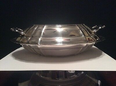 Vintage Sterling Silver Fisher Silversmiths #7410 Covered Serving Dish With Lid