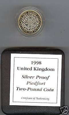 1998 Boxed Piedfort Silver Proof £2  Bi-Colour