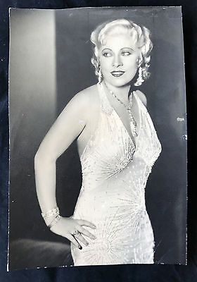 "Original stamped 1933 MAE WEST oversize double weight 13 1/2"" by 9"" glamour NICE"