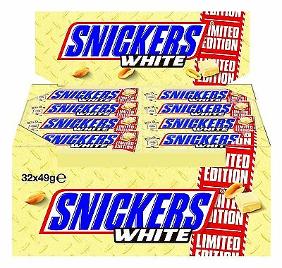 Snickers White 32 Bar 1568 G Pack of 1)