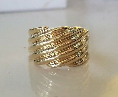 10k Yellow Gold Wide Band Ring Size 7 *3.2 Grams