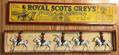 Vintage Britains The Royal Scots Greys Set with Original Box (No. 32)