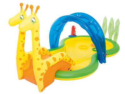 BESTWAY 53060 Children Castle inflatable Toy castle with Slide Paddling pool Zoo