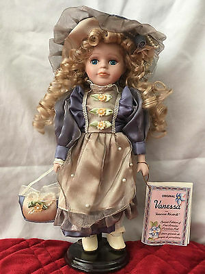 """12"""" Vanessa Ricardi Collection Porcelain Doll New Box 2003"""