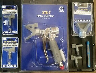 Graco XTR-7 Airless Spraygun + Tips, Guard and Filter Brand New