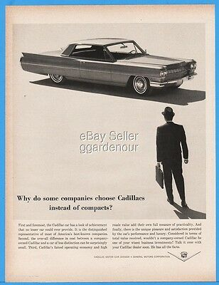 1963 Cadillac Coupe DeVille Fleet Car COMPANIES CHOOSE Magazine Print Ad