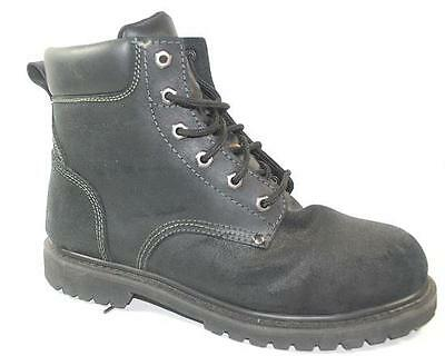 90c8958d9f4 USED MENS CHINOOK OIL RIGGER Black Leather STEEL TOE Work Safety Boots  Shoes 13
