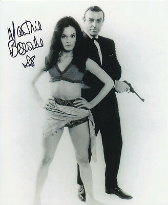 Martine Beswick In Person Signed Photo - James Bond - AG446