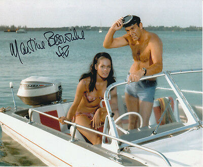Martine Beswick In Person Signed Photo - James Bond - AG455