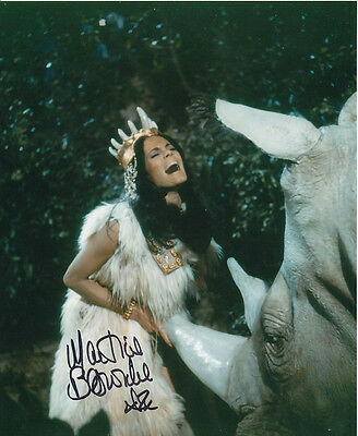 Martine Beswick In Person Signed Photo - Slave Girls - AG444