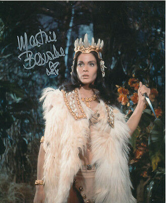 Martine Beswick In Person Signed Photo - Slave Girls - AG445