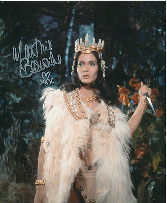 Martine Beswick In Person Signed Photo - Slave Girls - AG466