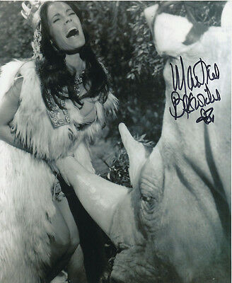 Martine Beswick In Person Signed Photo - Slave Girls - AG475