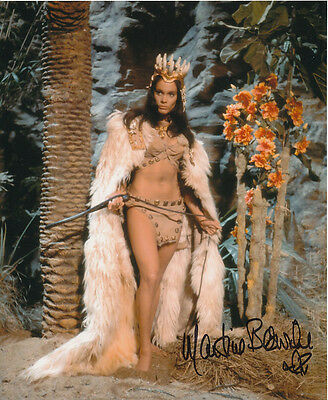 Martine Beswick In Person Signed Photo - Slave Girls - AG489
