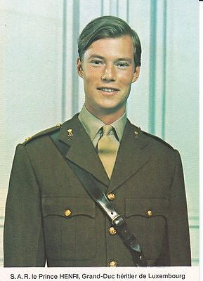 Royalty Crownprince Henri of Luxembourg Photocard