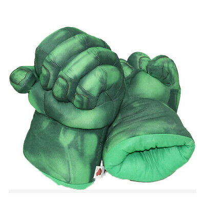 Pair of Hulk Boxing Gloves Plush Toy Fist Hand Green Gloves Kids Play Toy Gift