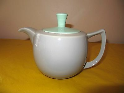VINTAGE BRANKSOME Grey&Green TEA POT 1.25Pt approx,  used in VGC  (0.6/170)