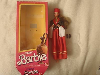 1985 Dolls of the World Greek Barbie Doll was on display in case