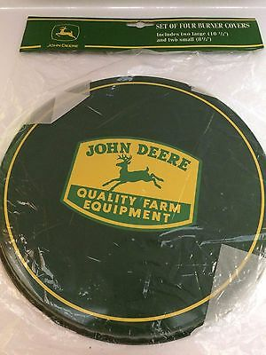 John Deere - Collectible Stove / Oven Top Burner Covers - Round - Set of 4 - New