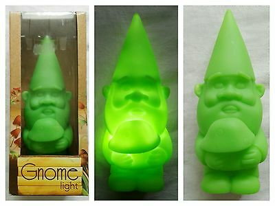 GREEN NOVELTY GNOME LIGHT (Signed for Postage Only)