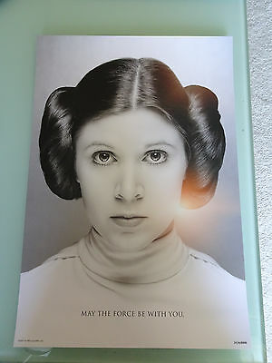 Star Wars Celebration Orlando 2017 Carrie Fisher Tribute Panel Poster