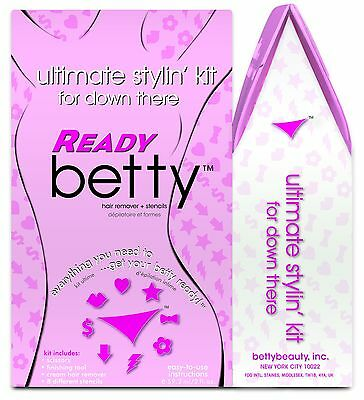 Betty Beauty Ready Betty Ultimate Stylin' Kit for Down There Cream Hair Remover