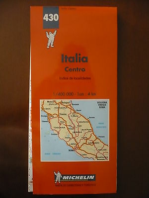 mapa carreteras Italia centro, Michelin. Es 1/400000. center Italy Road map