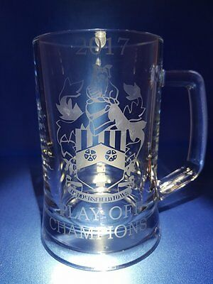 2017 HUDDERSFIELD TOWN PLAY OFF CHAMPIONS Etched On A Pint Tankard New